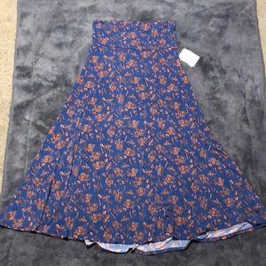 NWT LuLaRoe MAXI Blue & Orange floral